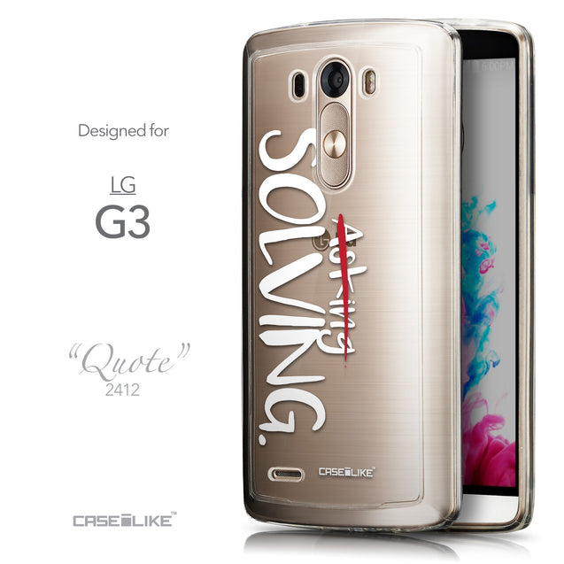 Front & Side View - CASEiLIKE LG G3 back cover Quote 2412