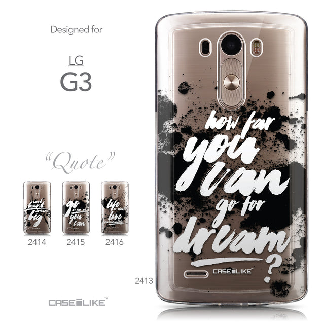 Collection - CASEiLIKE LG G3 back cover Quote 2413