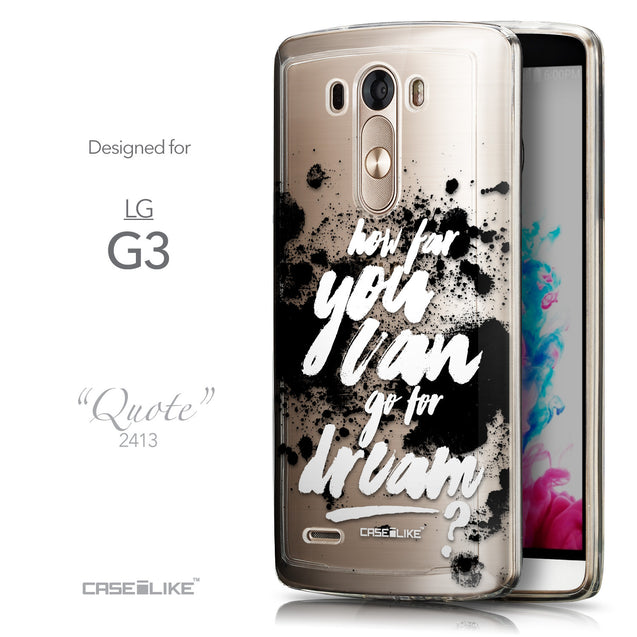 Front & Side View - CASEiLIKE LG G3 back cover Quote 2413
