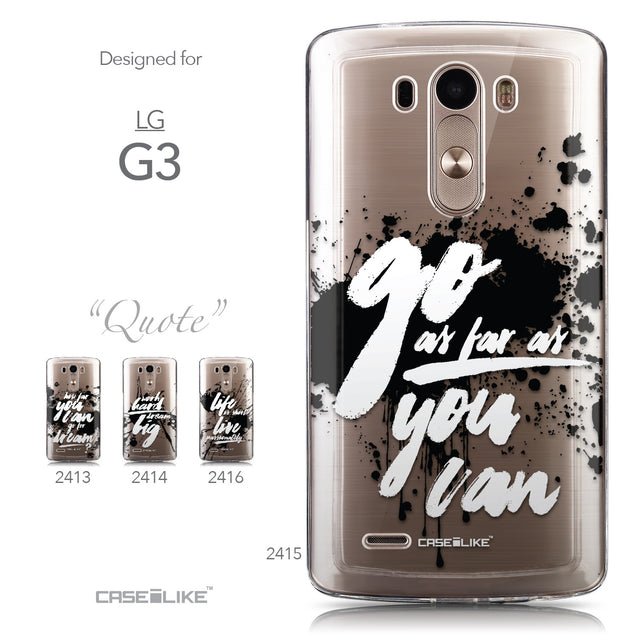 Collection - CASEiLIKE LG G3 back cover Quote 2415