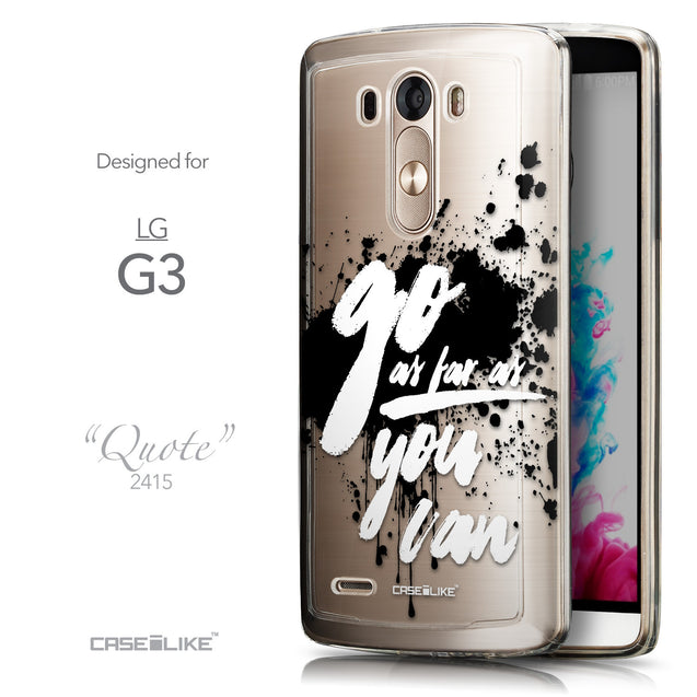 Front & Side View - CASEiLIKE LG G3 back cover Quote 2415