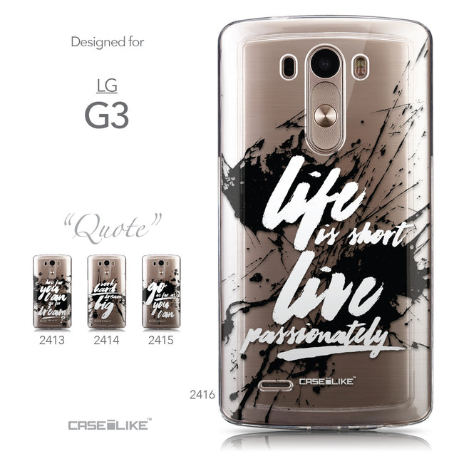 Collection - CASEiLIKE LG G3 back cover Quote 2416