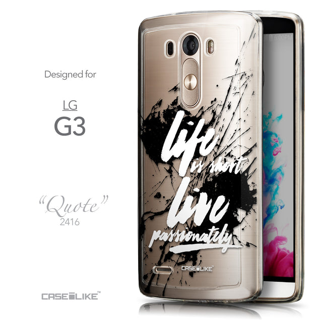 Front & Side View - CASEiLIKE LG G3 back cover Quote 2416