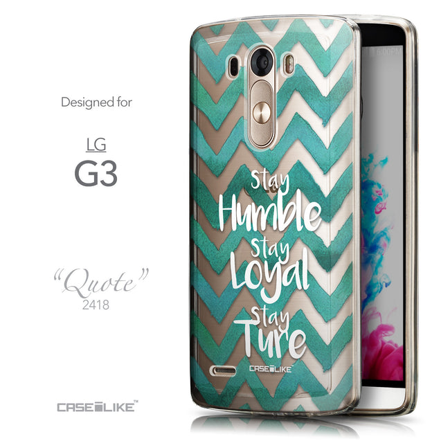 Front & Side View - CASEiLIKE LG G3 back cover Quote 2418