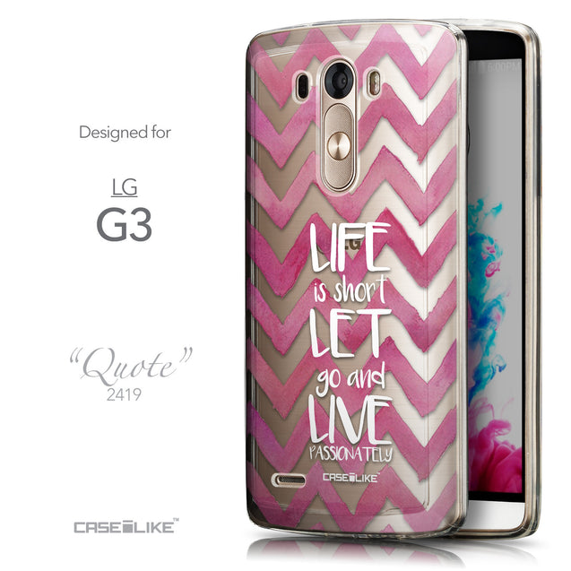 Front & Side View - CASEiLIKE LG G3 back cover Quote 2419