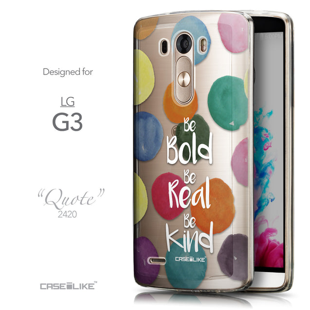 Front & Side View - CASEiLIKE LG G3 back cover Quote 2420