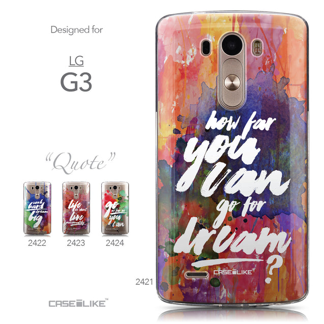 Collection - CASEiLIKE LG G3 back cover Quote 2421