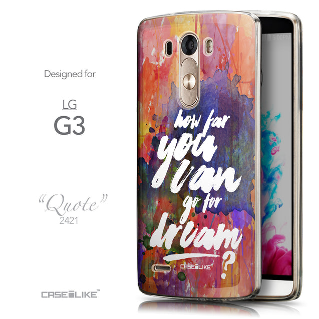 Front & Side View - CASEiLIKE LG G3 back cover Quote 2421