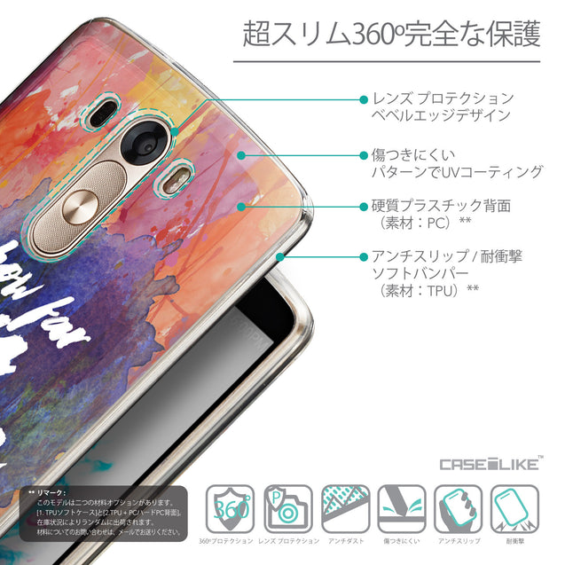 Details in Japanese - CASEiLIKE LG G3 back cover Quote 2421