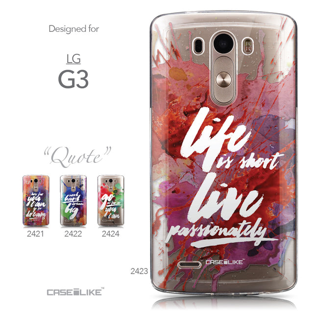 Collection - CASEiLIKE LG G3 back cover Quote 2423