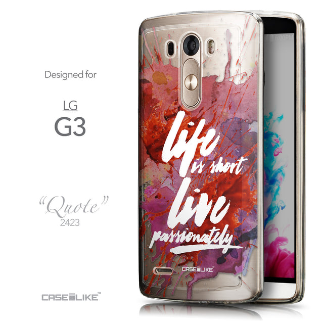 Front & Side View - CASEiLIKE LG G3 back cover Quote 2423