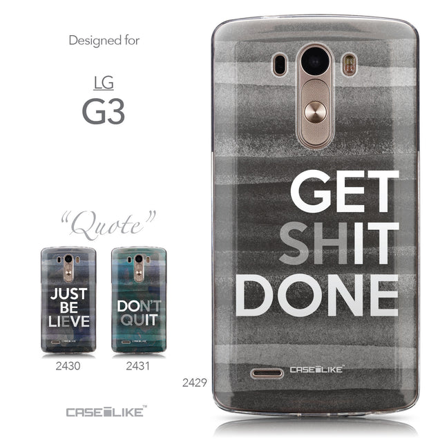 Collection - CASEiLIKE LG G3 back cover Quote 2429