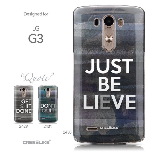 Collection - CASEiLIKE LG G3 back cover Quote 2430
