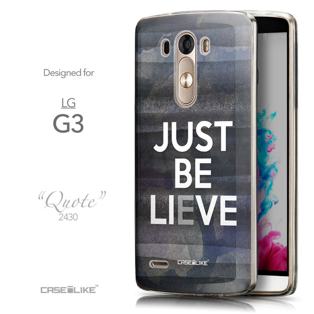 Front & Side View - CASEiLIKE LG G3 back cover Quote 2430