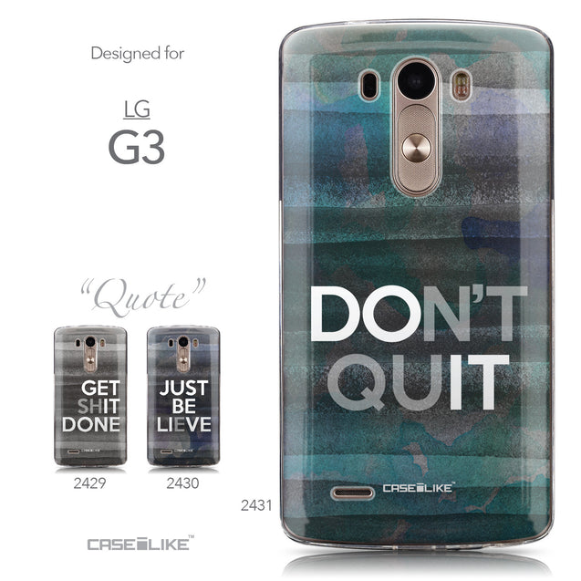 Collection - CASEiLIKE LG G3 back cover Quote 2431