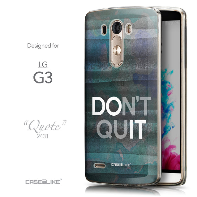 Front & Side View - CASEiLIKE LG G3 back cover Quote 2431