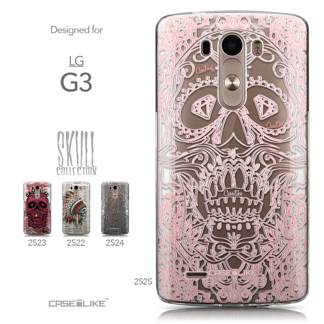 Collection - CASEiLIKE LG G3 back cover Art of Skull 2525