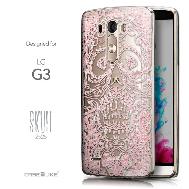 Front & Side View - CASEiLIKE LG G3 back cover Art of Skull 2525