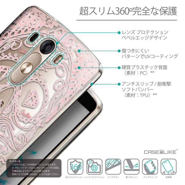 Details in Japanese - CASEiLIKE LG G3 back cover Art of Skull 2525