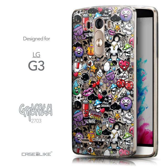Front & Side View - CASEiLIKE LG G3 back cover Graffiti 2703