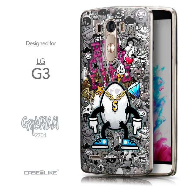 Front & Side View - CASEiLIKE LG G3 back cover Graffiti 2704