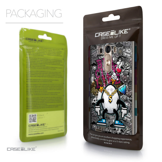 Packaging - CASEiLIKE LG G3 back cover Graffiti 2704