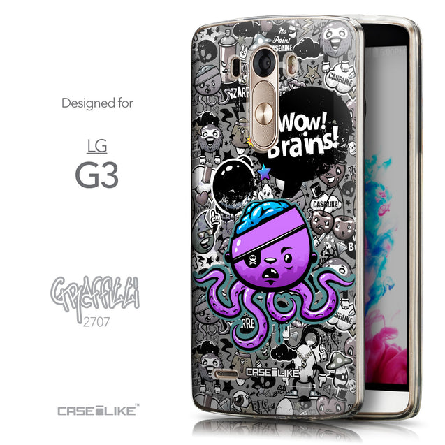 Front & Side View - CASEiLIKE LG G3 back cover Graffiti 2707