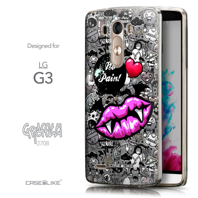 Front & Side View - CASEiLIKE LG G3 back cover Graffiti 2708