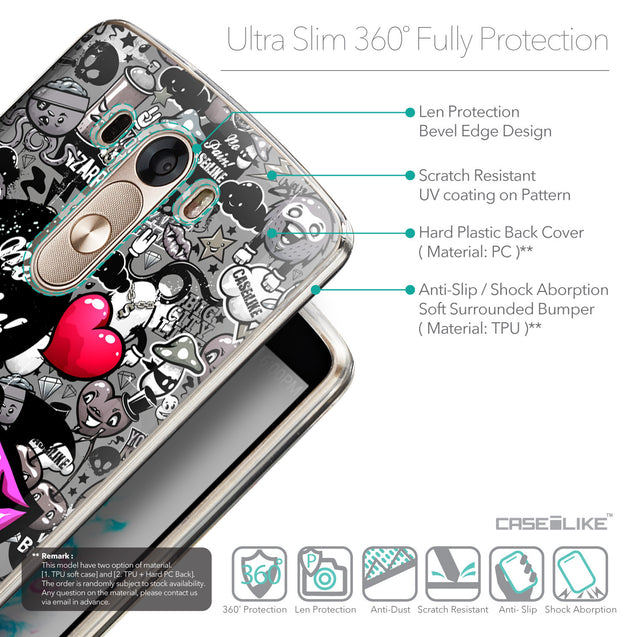 Details in English - CASEiLIKE LG G3 back cover Graffiti 2708