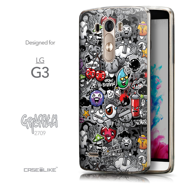 Front & Side View - CASEiLIKE LG G3 back cover Graffiti 2709