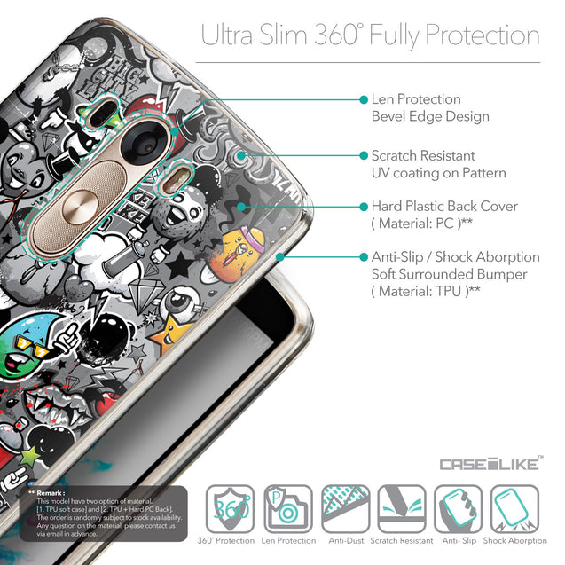 Details in English - CASEiLIKE LG G3 back cover Graffiti 2709
