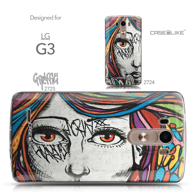 Collection - CASEiLIKE LG G3 back cover Graffiti Girl 2725