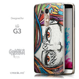 Front & Side View - CASEiLIKE LG G3 back cover Graffiti Girl 2725