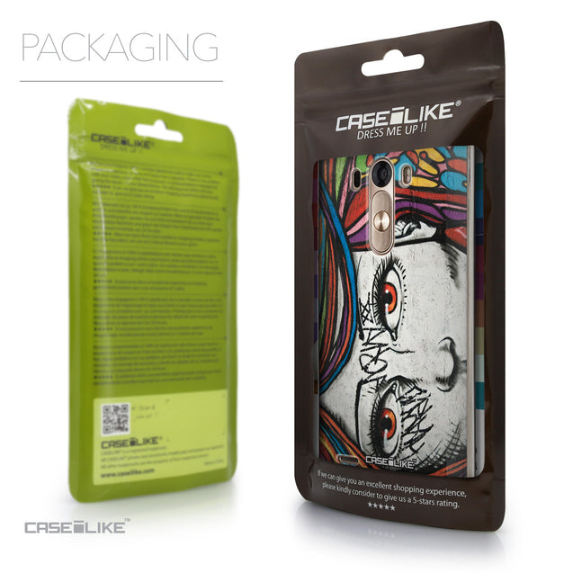 Packaging - CASEiLIKE LG G3 back cover Graffiti Girl 2725