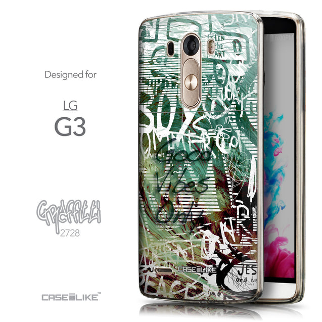 Front & Side View - CASEiLIKE LG G3 back cover Graffiti 2728