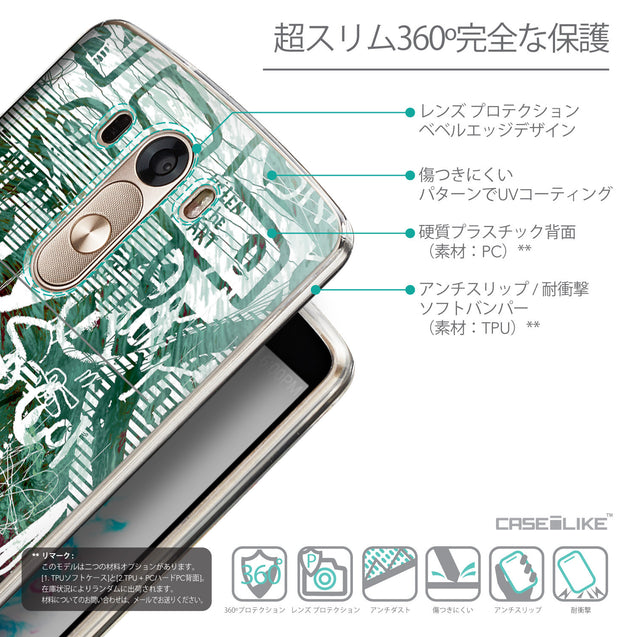 Details in Japanese - CASEiLIKE LG G3 back cover Graffiti 2728