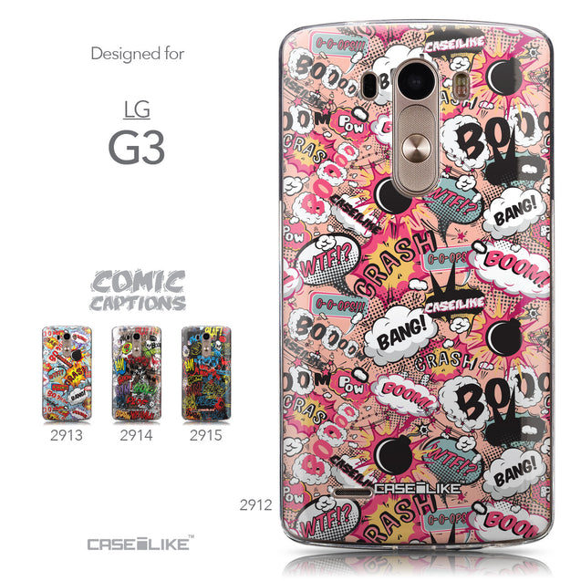 Collection - CASEiLIKE LG G3 back cover Comic Captions Pink 2912
