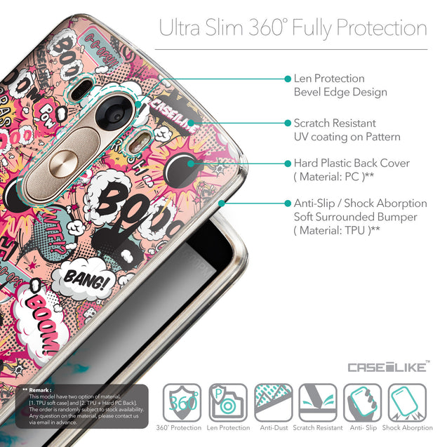 Details in English - CASEiLIKE LG G3 back cover Comic Captions Pink 2912