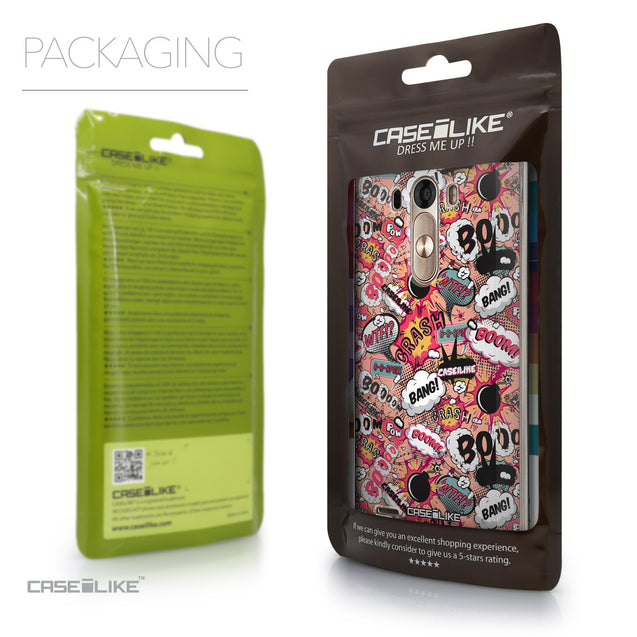 Packaging - CASEiLIKE LG G3 back cover Comic Captions Pink 2912