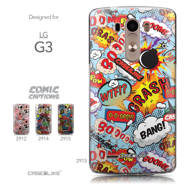 Collection - CASEiLIKE LG G3 back cover Comic Captions Blue 2913