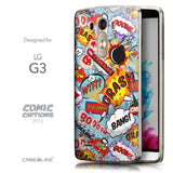 Front & Side View - CASEiLIKE LG G3 back cover Comic Captions Blue 2913