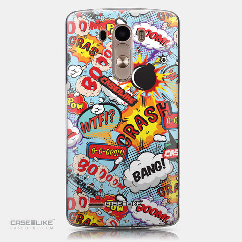 CASEiLIKE LG G3 back cover Comic Captions Blue 2913