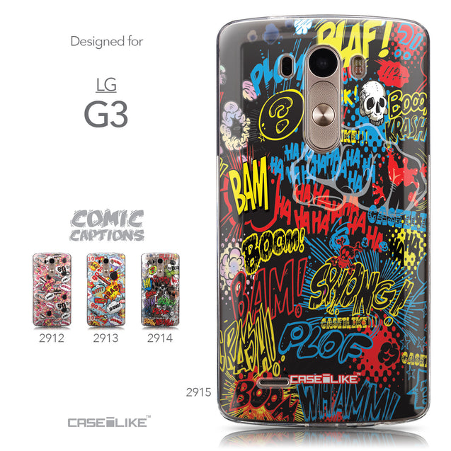 Collection - CASEiLIKE LG G3 back cover Comic Captions Black 2915