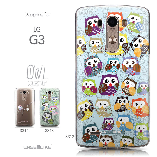 Collection - CASEiLIKE LG G3 back cover Owl Graphic Design 3312