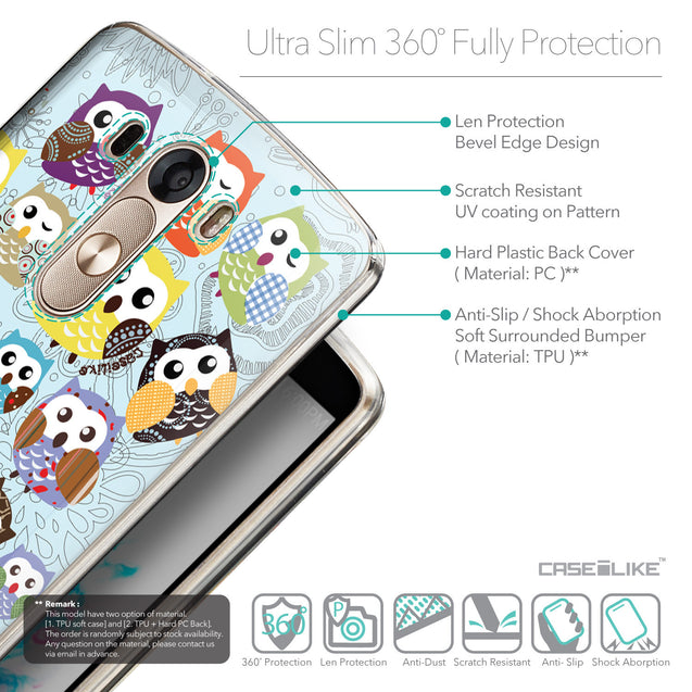 Details in English - CASEiLIKE LG G3 back cover Owl Graphic Design 3312