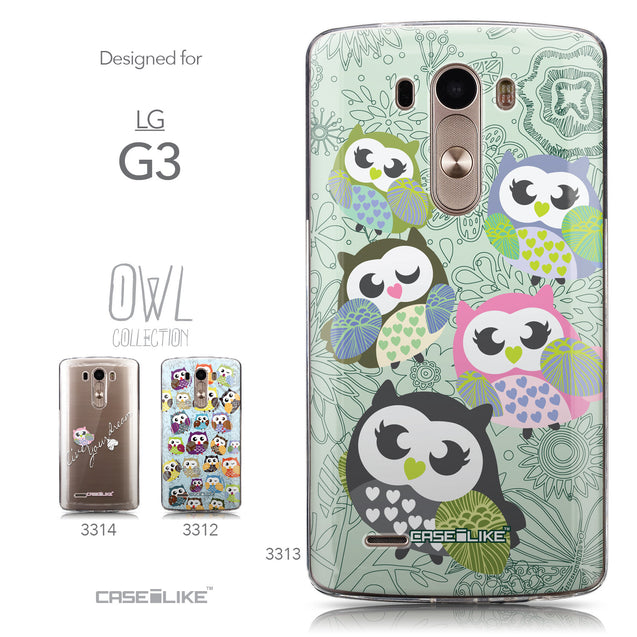 Collection - CASEiLIKE LG G3 back cover Owl Graphic Design 3313