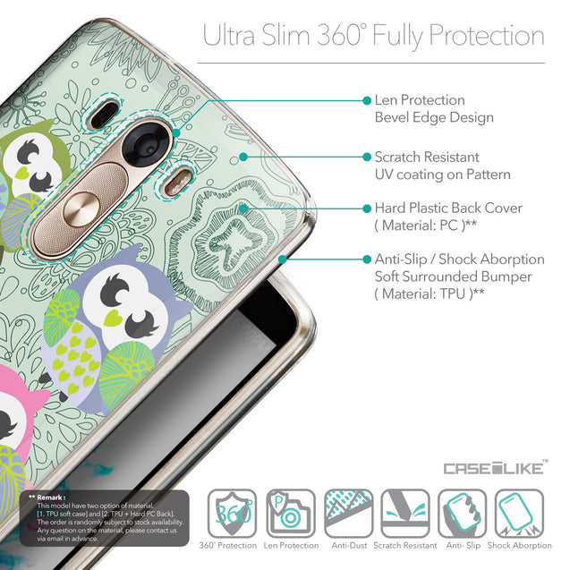Details in English - CASEiLIKE LG G3 back cover Owl Graphic Design 3313