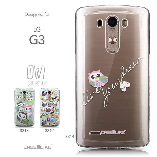 Collection - CASEiLIKE LG G3 back cover Owl Graphic Design 3314