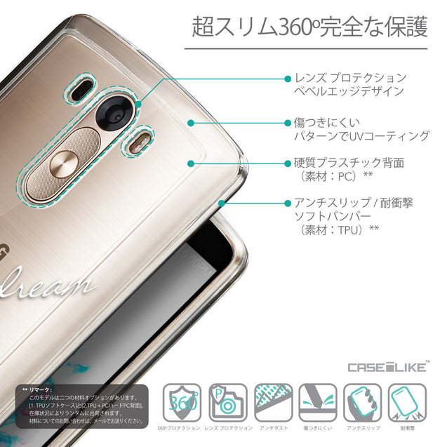 Details in Japanese - CASEiLIKE LG G3 back cover Owl Graphic Design 3314