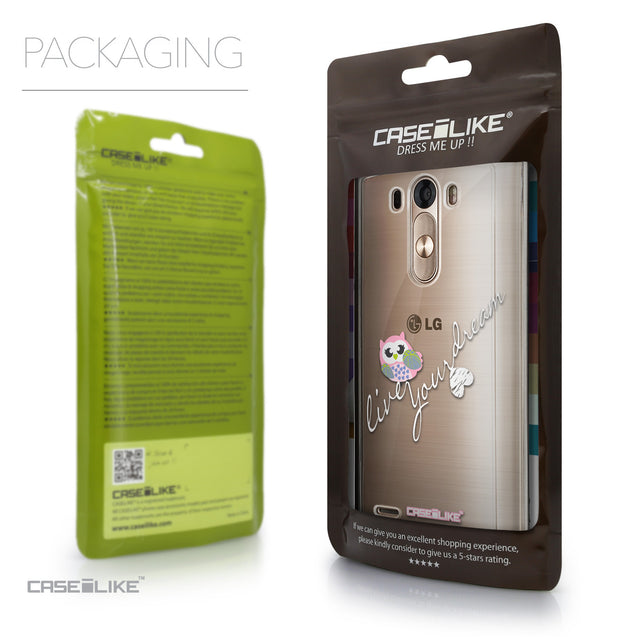 Packaging - CASEiLIKE LG G3 back cover Owl Graphic Design 3314